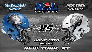 Download Columbus Lions vs New York Streets Video