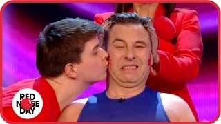 Download David Walliams's Guinness World Record kissing attempt Video