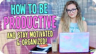 Download How to be Productive! + Stay Motivated & Organized! Video