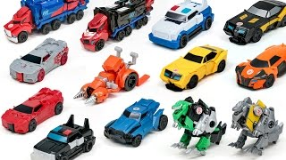Download Transformers Robots in Disguise Adventure RID Optimus Prime Bumblebee 1 Step Vehicle Robot Car Toys Video