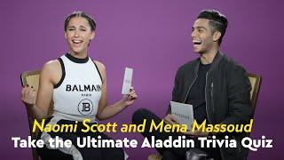 Download Naomi Scott and Mena Massoud Take the Ultimate Aladdin Trivia Quiz Video