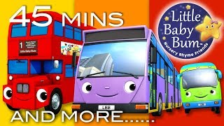 Download Bus Song | Different Types of Buses! | Plus More Nursery Rhymes | 45 Minutes from LittleBabyBum! Video