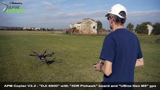 Download APM Copter V3.2 Release - ″DJI S900″ with ″3DR Pixhawk″ board and ″UBlox Neo M8″ gps Video