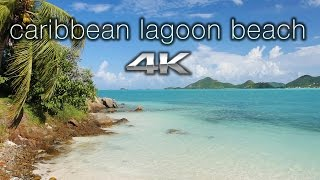 Download CARIBBEAN LAGOON BEACH 4K 1 HR Nature Relaxation™ Scene/Screensaver - Antigua Video