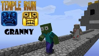 Download Monster School : GRANNY TEMPLE RUN CHALLENGE - Minecraft Animation Video