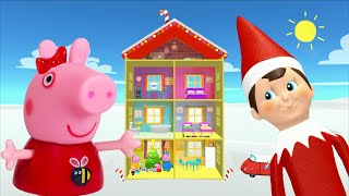 Download Peppa Pig Game | Elf On The Shelf Hiding in Peppa Pig Christmas Toys | Peppa Pig Family Christmas Video