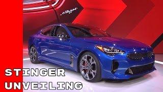 Download 2018 Kia Stinger Unveiling At Detroit Auto Show NAIAS 2017 Video