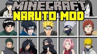 Download Minecraft NARUTO MOD! | BATTLE WITH NARUTO, SASUKE, KAKASHI, SAKURA, & MORE ! | Modded Mini-Game Video