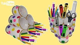 Download 177) Ide Kreatif - Tempat pensil dari botol bekas    Bottle craft ideas   Crafts With Bottle Plastic Video