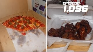 Download HAVING PIZZA AND BBQ WINGS!!! - December 15,2016 (Day 1,096) Video
