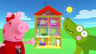Download Peppa Pig Game | Crocodile Hiding in Peppa Pig Toy Furniture | Peppa Pig Family Home Playset Video