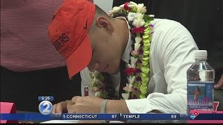 Download Student-athletes participate in National Letter of Intent Signing Day Video