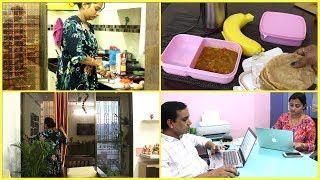 Download Indian Mom Busy Morning Routine 2018 - Kid's School, Breakfast, Lunch Preparation   Working Mom Video