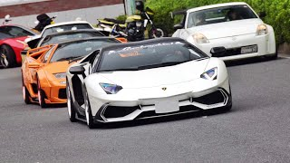 Download 【大黒PA】スーパーカー加速サウンド/Supercars acceleration sound in Japan. Aventador Diablo 458 488 GT3RS Video
