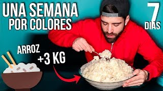 Download UNA SEMANA COMIENDO POR COLORES *me como +1KG de arroz* Video