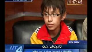 Download Un niño de 11 años ingresó a la Universidad Nacional Mayor San Marcos Video