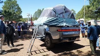 Download Rivian R1T Electric Camper Truck Walk Around: Overland Expo Video