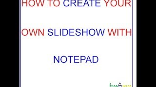 Download create a slideshow with notepad in html Video