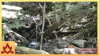 Download Primitive Technology: Water powered hammer (Monjolo) Video