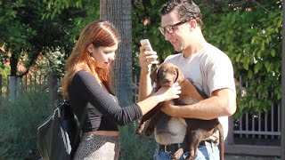 Download NERD PICKING UP GIRLS WITH A PUPPY!! Video