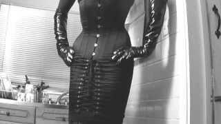 Download Kitchen 20 hobble corset and 8 inch heels Video