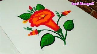 Download Simple flower rangoli. Video