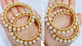 Download How To Make Designer Pearl Bangles//Latest Model Bangles//Beautiful Bangles At Home..! Video