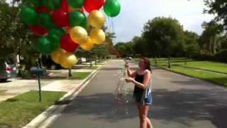 Download Balloons flying to the sky Video