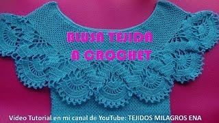 Download Blusa Tejida a Crochet para Verano parte 1 de 2 Video