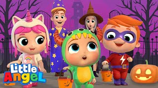 Download Baby Learns Trick or Treat   Little Angel Halloween Song   Nursery Rhymes & Kids Songs Video