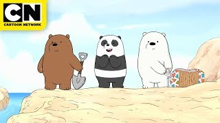 Download We Bare Bears | Baby Bears Build a Sandcastle | Cartoon Network Video