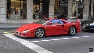 Download LOUD Ferrari F40 Start Up and Driving in Geneva Video