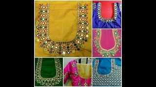 Download Latest Aari Maggam Work designer blouses, Kasu,embroidery,mirror work Video
