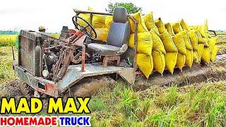 Download Gian nan kéo lầy xe cảii tiến 2 cầu 4 máy kéo lúa qua mương mắc lầy nằm chịu chặng / 4x4 tractor Video