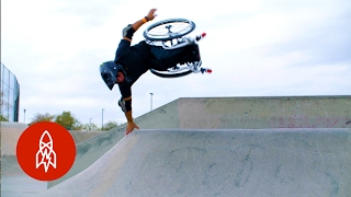 Download Wheelz in the Air: Hitting the Skatepark on a Wheelchair Video