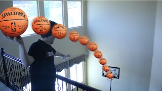 Download CRAZIEST INDOOR HOUSE BASKETBALL TRICKSHOTS!! Video