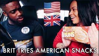 Download BRIT TRIES AMERICAN SNACKS! Video