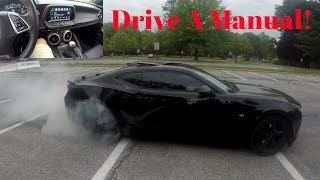 Download HOW TO DRIVE A STICK SHIFT! | Camaro SS BurnOut | Video