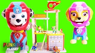 Download Paw patrol Fire Station Playset with Fire Trucks Video