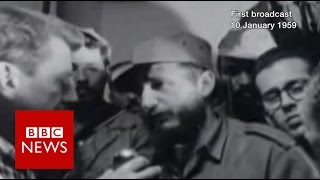 Download Fidel Castro on his beard, free election & gambling (1959) - BBC News Video