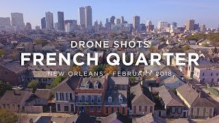 Download Drone Shots of The French Quarter, New Orleans   4K Video