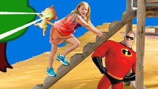 Download Incredibles 2 Assistant Hunt in the Park for Jack Jack and Elastigirl and PJ Masks Video