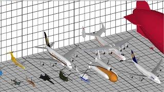 Download Aircraft Size Comparison 3D Video