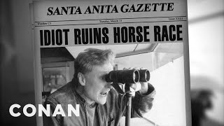 Download Conan Calls A Santa Anita Horse Race Video