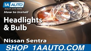 Download How To Install Replace Headlights and Bulbs Nissan Sentra 04-06 1AAuto Video