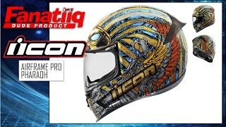 Download ICON Airframe Pro Pharaoh Helmet Review - Dude Reviews Video