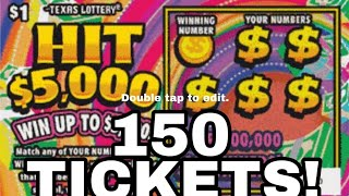 Download FULL PACK! 150X HIT $5,000 $150 Of Tickets!!!!Texas Lottery Scratch Off Tickets Video