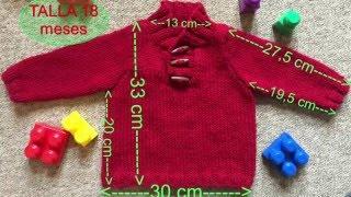 Download Fácil Jersey punto para bebe 18 meses a dos agujas o agujas circulares Video