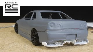 Download Smoothing 3D Printed Skyline Body, Designing Wheels, and Scratch Building Rear Diffuser (E4) Video
