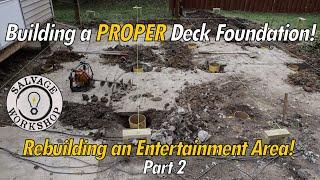 Download Building a PROPER Foundation ~ Rebuilding a Deck Video